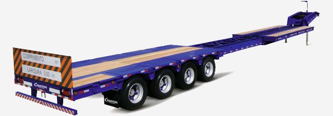 Carreta com capacidade de tração de 78.000 kg
