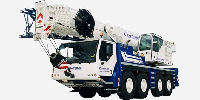 Guindaste telescópico hidráulico LTM 1090